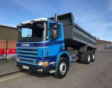 1999 Scania P94 310 6x4 Day Cab Steel Tipper on Springs Suspension, Double Drive Double