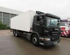 2010 Scania P280 6x2 rear lift fridge, 26 tonnes, rear lift