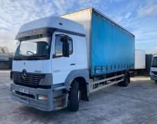 2004 Mercedes Ben 1823 Atego 18 Tons Curtain side Manual GearBox Spring Suspension