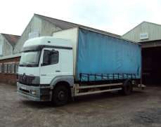 2004 Mercedes Benz 1823 4x2 18 Tons low roof Sleeper Cab 24 Foot Curtain side Body