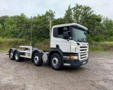 2008 scania P340 8x2 Raar lift Manual gears, chassis cab or flatbed