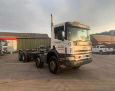 2005 Scania 114 8x4 340 32 Tones Chassis cab, Or Flat bed,Steel suspension, Heavy Duty, low mileage for age,   Day cab