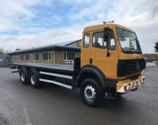 1996 Mercedes 2527 6x4 Sleeper Cab Double Diff Double Drive Flatbed