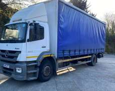 2011 Mercedes Benz Axor 1824 18 Tons Day Cab Curtain Side Rigid Lorry, White, Manual Gearbox