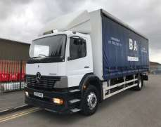 2002 Mercedes Atego 1823  4x2 18 Tons Day Cab Curtainsider on Springs Suspension,