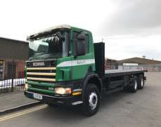 2002 Scania P94 300 6x4 Day Cab Flatbed on Springs Suspension, Double Drive Double Diff